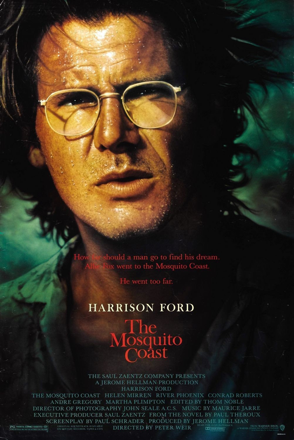 a review of the mosquito coast a film by peter weir