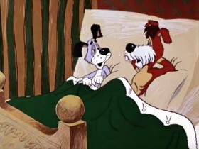 — Эх, хорошо. А дедушка где спит? — Какой дедушка? А-а, дедушка. А там, в прихожей, на коврике. А если не слушается, то я его веником. — Это правильно.