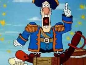 Раз-два! Раз — два! Пушка!... Они заряжают пушку!... Зачем? А!... Они будут стрелять! Прибавить ходу! Раз-два! Раз-два, раз-два, раз-два, раз-два!... Та-ба-ань!!! Плюх! Раз-два, раз-два, раз-два.....