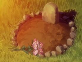 Если ты живёшь, твоя жизнь рано или поздно окончится... Тело вернётся к земле. Над ним вырастут трава и цветы. Душа станет воспоминаниями и будет жить в сердцах других людей. Всё в этом мире течёт и движется по кругу. Это относится и к человеческой жизни.  (Любая жизнь когда-нибудь заканчивается. Плоть возвращается в землю, а над ней вырастает трава и распускаются цветы. Душа остаётся в воспоминаниях и продолжает жить в сердцах других. Всё в этом мире течёт и движется по кругу. И человеческая жизнь тоже.)