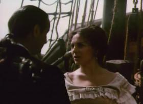 - Не правда ли, какая неожиданная встреча, мисс Арабелла! - Как Вы посмели напасть на наш корабль? Я лорд Уэйд! Я предупреждаю вас! Вы ответите за бессмысленно пролитую кровь и за насилие, совершённое над этой леди и мной! - Бог с вами, милорд! Какое к чёрту насилие? Я спас вам жизнь. Вы не представляете, какую радость доставляет мне ваше присутствие на этом корабле. Дело в том, что ваш дядюшка немножко задолжал мне, а теперь у меня есть гарантии! - Не знаю, о чём вы говорите, но вы подлец Лавасер! - Ну, мисс, нам не надо ссориться с вами, ведь я ещё думаю! Может быть, я женюсь на вас...