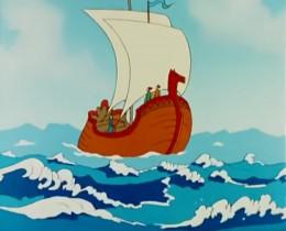 Ветер на море гуляет И кораблик подгоняет; Он бежит себе в волнах На раздутых парусах.