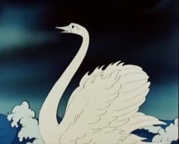 Лебедь белая молчит И, подумав, говорит: «Да! такая есть девица. Но жена не рукавица: С белой ручки не стряхнёшь Да за пояс не заткнёшь».