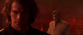 - Ты позволил этому тёмному владыке смутить твой рассудок, и сейчас... И сейчас ты стал как раз тем, что поклялся уничтожить. - Не нужно нотаций, Оби-Ван. Я насквозь вижу лгунов-джедаев. Я - не вы, и не страшусь Тёмной Стороны. Я принёс мир, свободу, справедливость и безопасность моей новой Империи! - Твоей Империи?! - Не вынуждай меня убивать тебя. - Энакин, я поклялся в верности Республике и демократии! - Если ты не со мной, значит ты мой враг. - Только ситхи всё возводят в абсолют. Я выполню свой долг. - Ну попробуй...