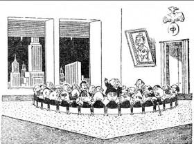 Собравшись вместе, капиталисты договаривались между собой, какую заработную плату платить рабочим. Благодаря этому сговору никто не платил рабочим больше той суммы, которую капиталисты устанавливали сообща, и рабочие, сколько ни бились. никак не могли добиться улучшения условий жизни. Кроме того устанавливали цены на выпускаемую продукцию: например, на сахар, на хлеб, на сыр, на ткани, на уголь. Никто не имел права продавать товары дешевле установленной цены, благодаря чему цены постоянно держались на высоком уровне, что опять -таки было очень выгодно для фабрикантов.