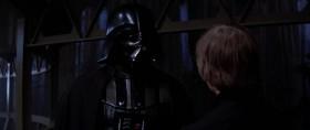 - Доверься своим ощущениям, отец. Ты не сможешь сделать этого. Я чувствую борьбу внутри тебя. Отбрось ненависть. - Слишком поздно для меня, сын. Император покажет тебе истинную сущность Силы. Теперь он твой учитель. - Тогда мой отец действительно мёртв. ============================================ - Прислушайся к своим чувствам, отец. Я чувствую борьбу. Избавься от ненависти! - Слишком поздно для меня, сынок. Император покажет тебе истинную сущность Силы. Отныне он твой Повелитель. - Видно, у меня больше нет отца.