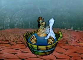 Пар, пар, пар, пар, пар Костей не ломит! Пар, пар, пар, пар Сладко тянет к дрёме! Отдохнешь часок-другой, Выходи на смену. После баньки моряку - Море по колено!