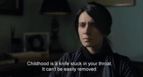 Детство это нож, всаженный в горло. Вытащить его нелегко.