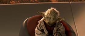 Победа? Победу, ты сказал? Магистр, Оби-Ван. Это не победа. Сетями тёмной стороны наш мир окутан. Война клоническая началась.