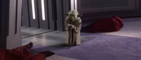 - Я слышал, есть новый ученик у Вас Император, или называть Вас - Дарт Сидиус? - Магистр Йода, Вы уцелели. - Удивлены? - Самомнение ослепило Вас Магистр Йода. Сейчас Вы сможете испытать на себе всю убийственную мощь тёмной стороны.